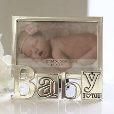 Cadre Photo Cadre Photo moderne en aluminium argent I Love You bébé 10x15 cm