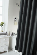 Spectrum 180 X Cm Shower Curtain And Rings Set Black