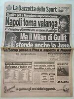 GAZZETTA DELLO SPORT 11-1-1988 JUVENTUS-MILAN 0-1 NAPOLI CAMPIONE D'INVERNO
