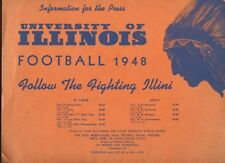 1948 NCAA Football Illinois Media Guide / Folder