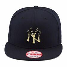 New Era New York Yankees Snapback Hat Cap NAVY/GOLD Metal Badge MLB