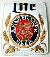 Vintage Lite A Fine Pilsner Beer Distributor Back of Jacket Patch 1970's NOS New