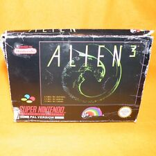 VINTAGE 1993 SUPER NINTENDO ENTERTAINMENT SYSTEM SNES ALIEN 3 GAME BOXED