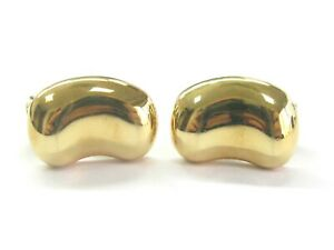 Tiffany & Co Elsa Peretti Bean Huggie Earrings 18Kt Yellow Gold 18.5mm