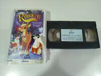 Rudolph el Reino de la Nariz Roja la Pelicula - VHS Cinta Tape Español