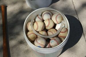 Lot of 20+ SYNTHETIC LEATHER Practice Little League HS Baseballs
