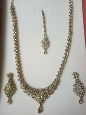 Floral Gold Indian Bridal Jewelry Set