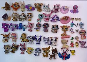 Hasbro Toy Figures Littlest Pet Shop Lot 60 + Pieces L1