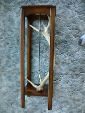 Vintage Wood and Antler Plant Stand, Tables, Furniture