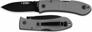 Ka-Bar Dozier Folding Hunter Knife, Lockback, Gray Zytel #4062GY