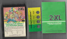 MEGO 2XL TALKING ROBOT 8 TRACK TAPE TALKING CALCULATOR AND NUMBER GAME BOOK CARD