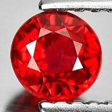 Superbe saphir rouge orangé VVS, taille diamant/2,8 mm