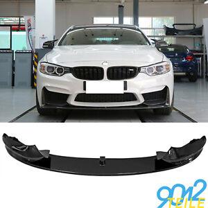 für BMW 4er F32 F33 M Paket Spoilerlippe Frontlippe GLANZ SCHWARZ Spoilerschwert