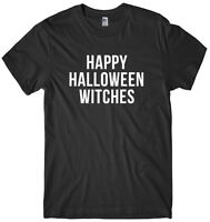 Happy Halloween Witches Mens Funny Unisex Halloween T-Shirt