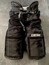 CCM PRO TACKS Eishockey Hose mit Velcro  schwarz SR S