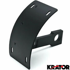 Curved Swingarm License Plate Tag Relocator Black Motorcycle Axle Mount Bracket