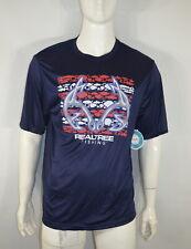New listing Realtree Men's T shirt XL Fishing Stripe Tee Navy NWT