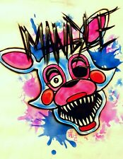 Custom Airbrushed Personalized Mangle Shirt! Five Nights At Freddy's FNAF