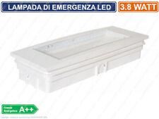 LAMPADA LED D'EMERGENZA ANTI BLACK OUT 3.8 WATT 130 LM GRADO PROTEZIONE IP40