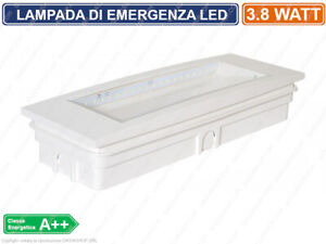 LAMPADA D'EMERGENZA A LED ANTI BLACK OUT 3.8 WATT 130 LM GRADO PROTEZIONE IP40