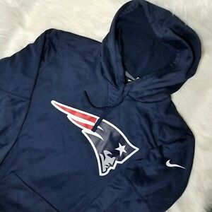 NEW Nike New England Patriots Dri-Fit Navy NFL Hoodie Men's Size Large