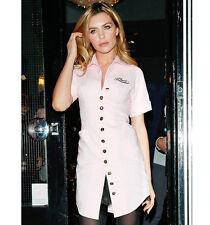 Vestido de uniforme de botón de oro AGENT PROVOCATEUR Tienda Rosa Talla 10 Medio Bnwt