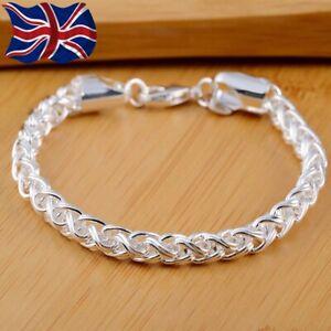 Tibetian Sterling Silver Bracelet Womens Twist Rope Chain + Free Gift Bag!!!