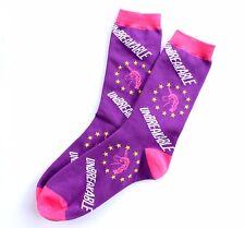 Official Unbreakable Kimmy Schmidt Socks // novelty print, pink, purple unicorn