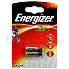 2 x Energizer Alkaline A27 batteries 12V MN27 E27A L828 E27 Alarms Calculators
