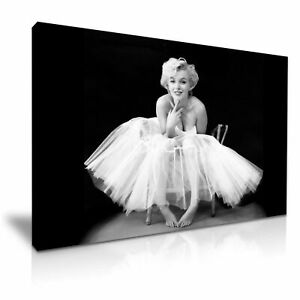 Marilyn Monroe-Ballerina Icon Canvas Wall Art Picture Print ~ 9 Sizes to Choose