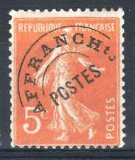 "FRANCE STAMP TIMBRE PREOBLITERE 50 "" SEMEUSE 5c ORANGE "" NEUF xx TB P090"
