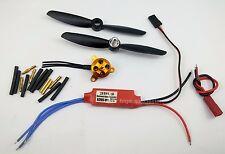 017k: 1 set mini BL motor KV2700 10gram,10A ESC,4045 Props. F/W:250gram
