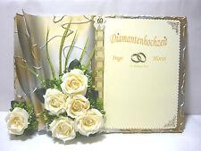 eigenart4you-Gästebuch-Diamantenhochzeit-60-UNIKAT-Hochzeit-Diamanten-Rosen-NEU