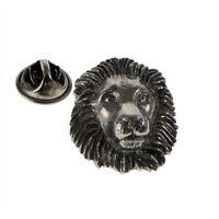 Lion Pewter Lapel Pin Badge XWTP086