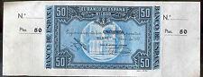 Banco de Bilbao 50 Pesetas 1937 caja ahorros de Vizcaya @ CON MATRIZ @ S.C. @@