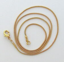 """Gold Plated Snake Chain 18""""  1mm ~ Jewelry by Firefly Glass Art"""