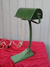 Lampe NIAM de bureau (dite d'avocat) - articulée métal émaillé vert - 1920