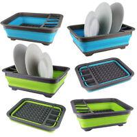 Collapsible Washing Up Bowl Dish Drainer Draining Folding Water Reusable Camping
