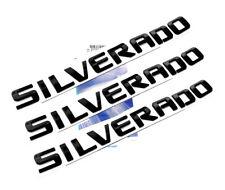 3x OEM Black SILVERADO Emblems Badge 3D Nameplate letter 1500 2500HD 3500HD WU