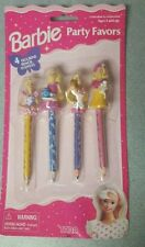 1997 Barbie pencil topper party favors 4 pack new on card  tara toys