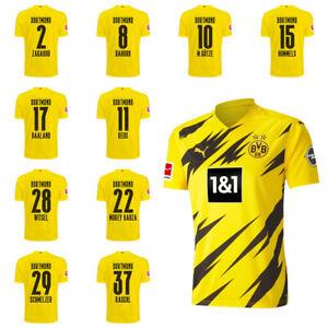 Puma Borussia Dortmund BVB Mens Home Jersey Shirt 2020 2021 w/ Player Name