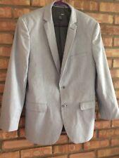 H&M Men's Navy White Casual 2 Button Blazer Sport Coat Jacket 40R- Lined -EUC
