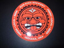 SUN KING BREWING Indianapolis logo Wee Mac STICKER decal craft beer brewery