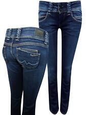 Pepe Jeans DARK-DENIM Venus Low Rise Regular Fit Straight Leg Denim Jeans NEW