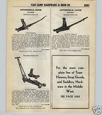 1939 40 PAPER AD Walker Garage Gas Station Floor Lift Jack Roll A Car