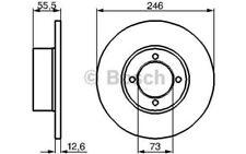 BOSCH Juego de 2 discos freno 246mm OPEL KADETT REKORD MANTA 0 986 478 082