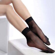 Ann Diane Women Ankle Sheer Ultra Short Neutral Nylon Socks 3Pack Color Black