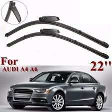 Pair For Audi A4/S4/A6/S6 Allroad Windshield Windscreen Wiper Blades 22'' L+R