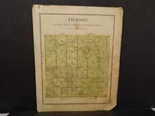 Iowa Madison County Map Jackson Township  1912  Y12#16