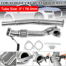 3'' Stainless Steel Exhaust DECAT Downpipe For VW GOLF SEAT LEON Audi A3 S3 8V